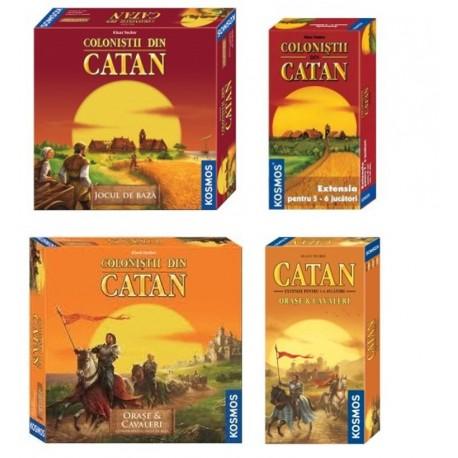 Set Complet Catan Orașe și Cavaleri (2-6 jucători)