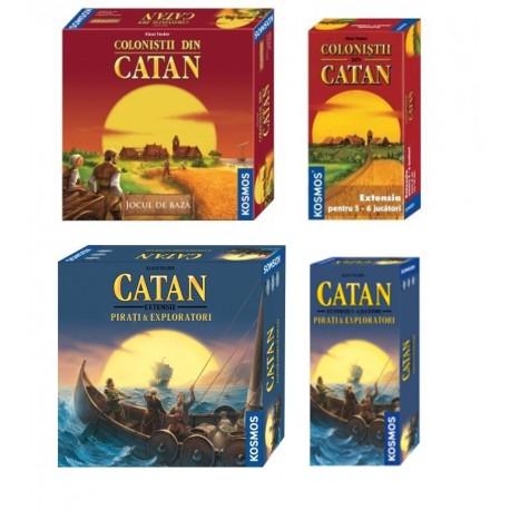 Set Complet Catan Pirați și Exploratori (2-6 jucători)