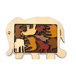 Constantin Puzzles: Animal Elephant Parade
