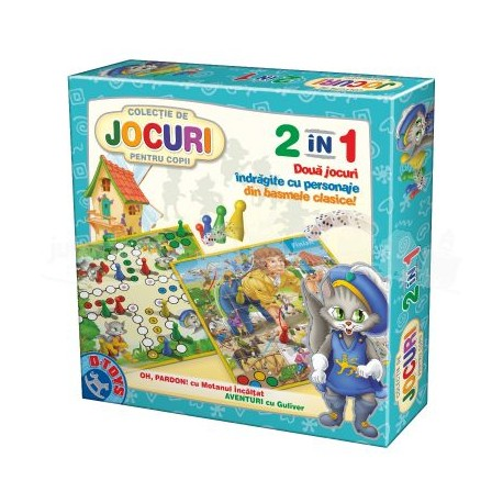 Jocuri pentru copii 2 în 1 - Gulliver și Motanul